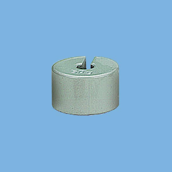 Slotted weight, 50 g, grey