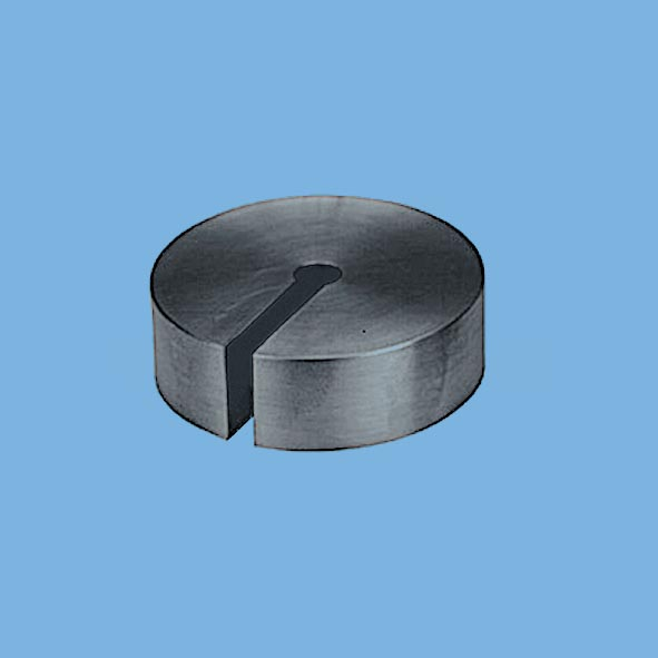 Slotted weight, 200 g, polished
