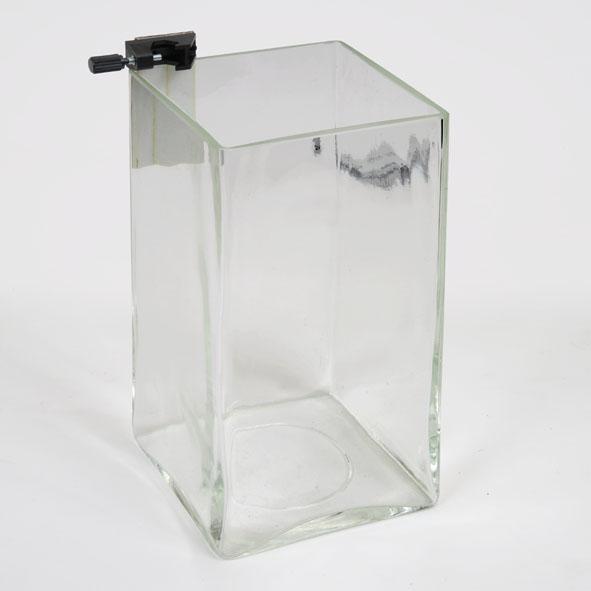 Glass vessel for liquid pressure gauge