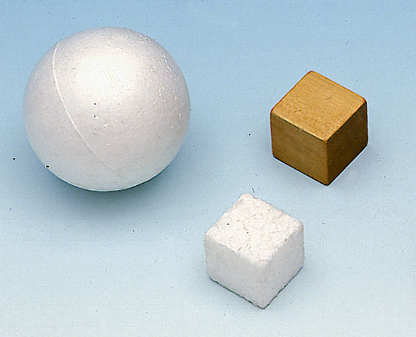 Cubes (2x) and ball (1x)