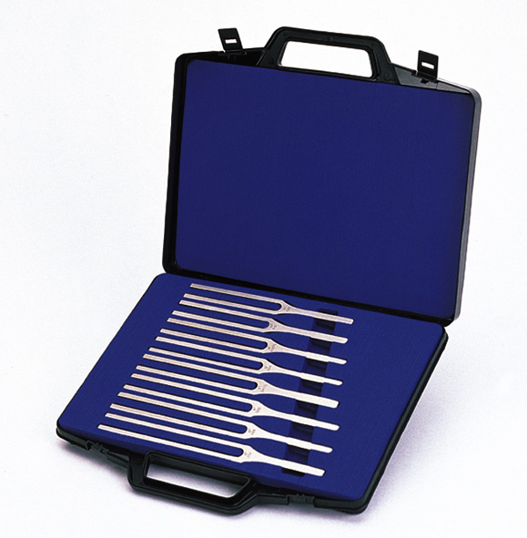 Tuning forks, set of 8 (C major scale)
