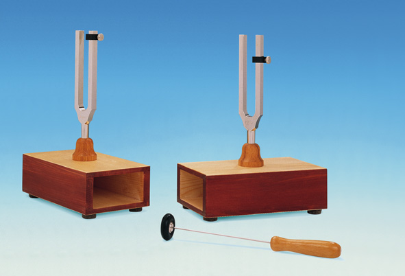 Resonance tuning forks, pair