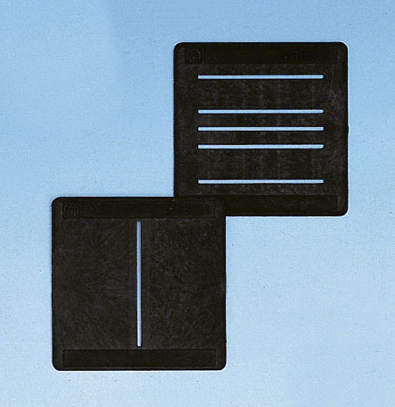 Set of 2 slit diaphragms