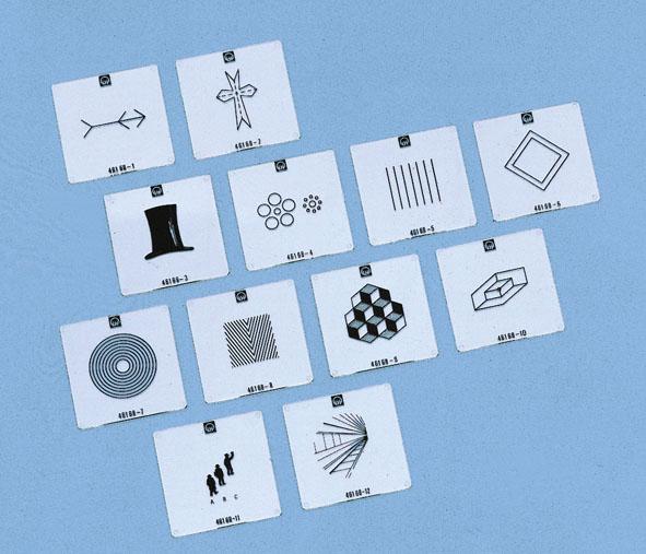 Transparencies, optical illusions, set of 12
