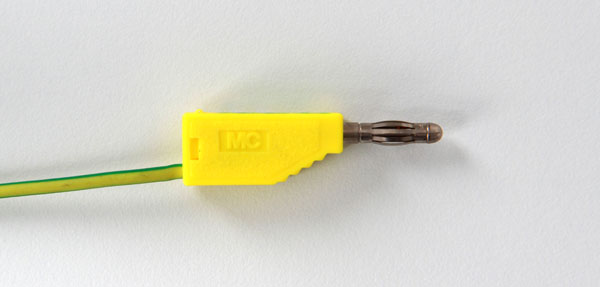 Connecting lead, 19 A, 100 cm, yellow/green
