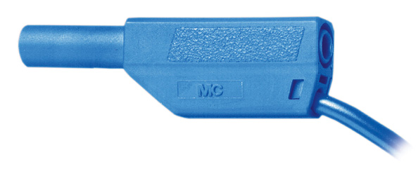 Safety connection lead, 10 cm, blue