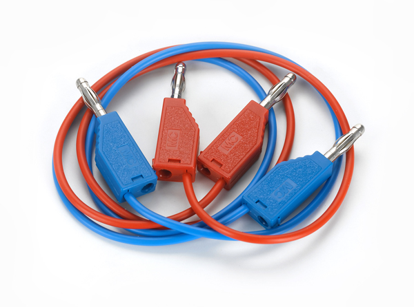 Connecting lead 19 A, 50 cm, red/blue, pair