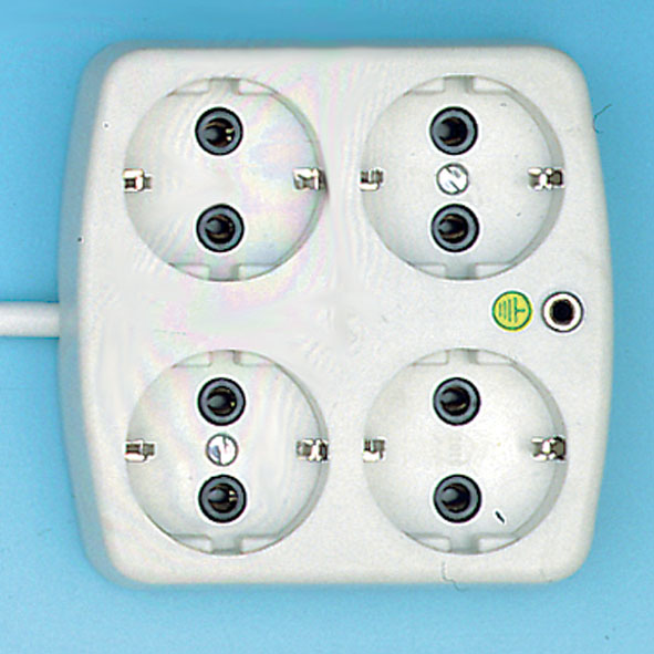 Distribution box with earthing socket