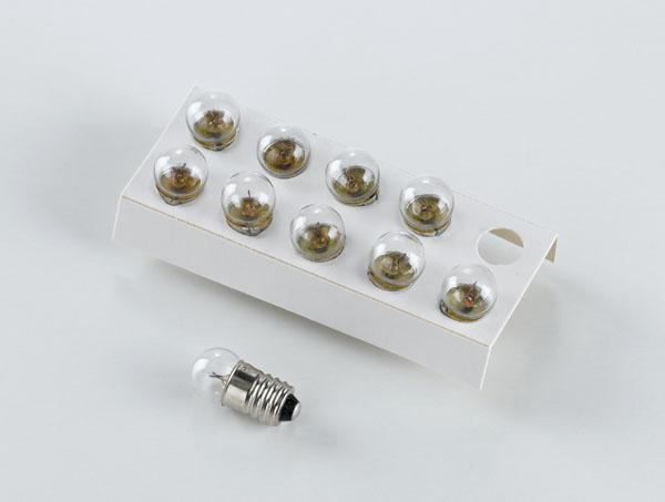 Bulbs, 3.8 V/0.27 W, E10, set of 10