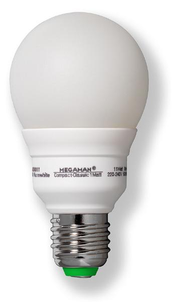 Energy saving lamp, 230 V/11 W, E 27