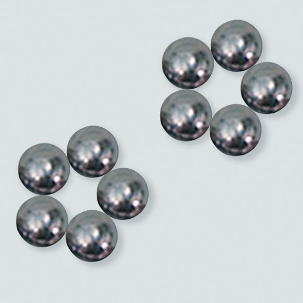 Ball magnets, 8 mm diam., set of 10