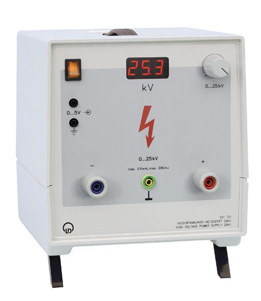 High-voltage power supply, 25 kV