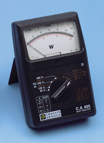 Wattmeter C.A 405, single/three- phase