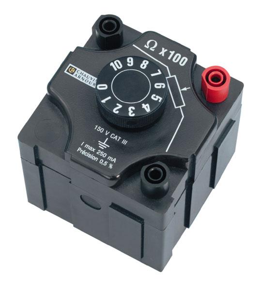 Decade resistor, 0...1 kΩ