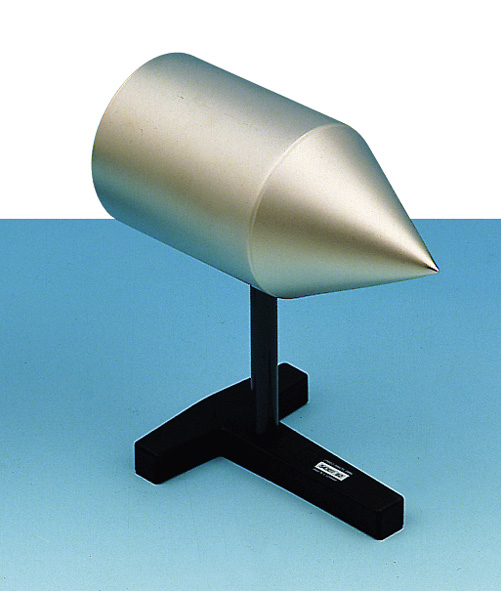 Conical conductor on insulating stand