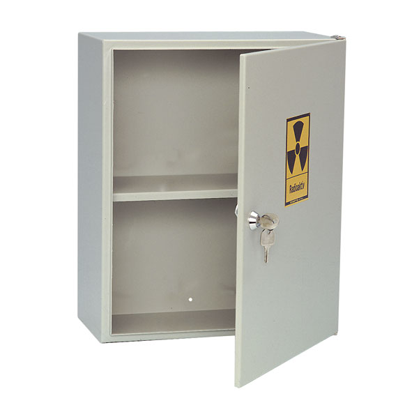 Cabinet for storage of radioactive materials