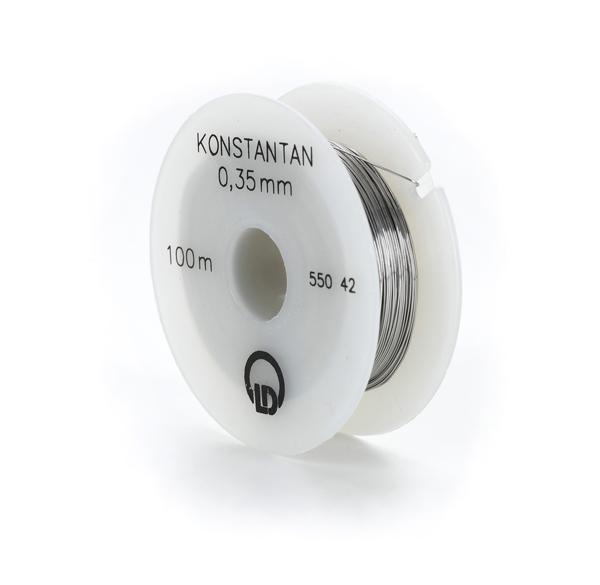 Constantan resistance wire, 0.35 mm diameter, 100 m