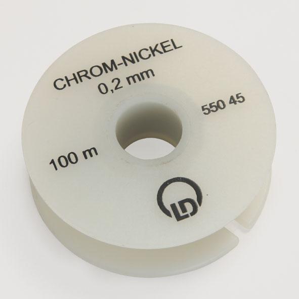 Chrome-nickel resistance wire, 0.2 mm diameter, 100 m
