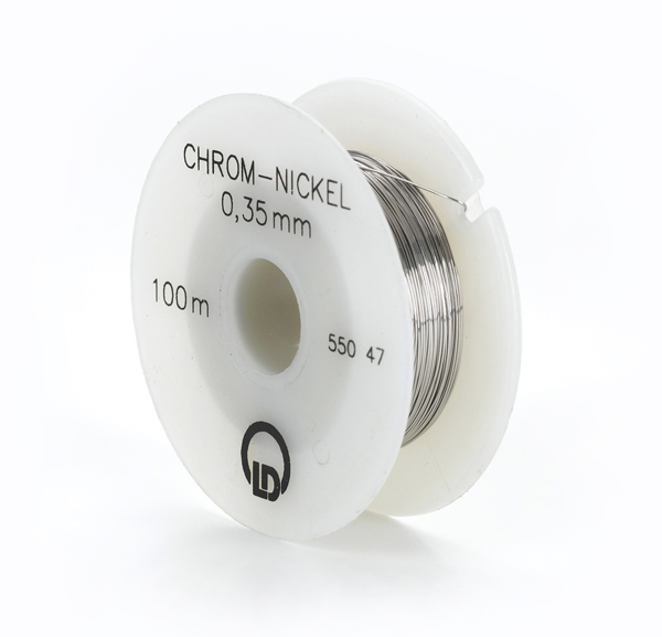 Chrome-nickel resistance wire, 0.35 mm diameter, 100 m