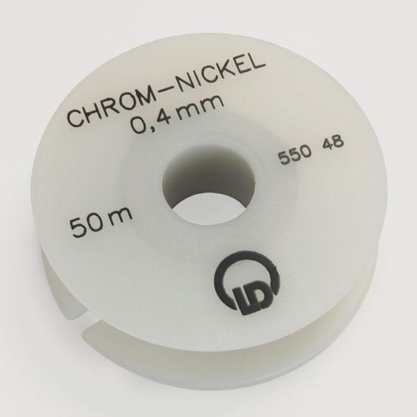 Chrome-nickel resistance wire, 0.4 mm diameter, 50 m