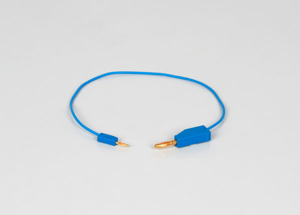 Adapter leads 2/4 mm, 30 cm, blue, set of 5