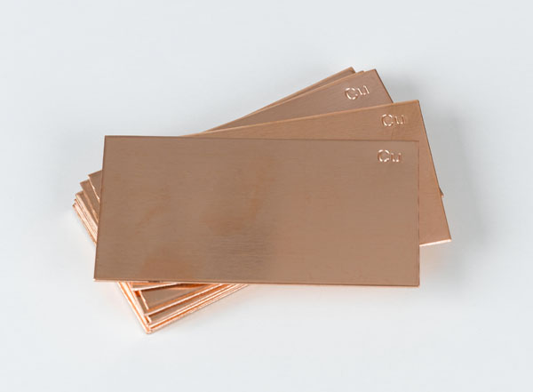 Plate electrodes copper 76 x 40 mm, set of 10