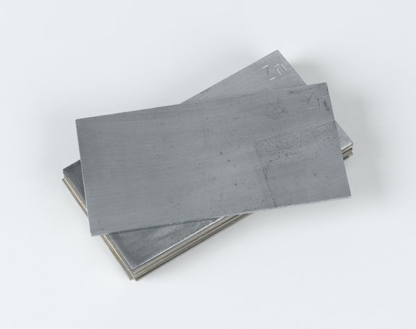 Plate electrodes, zinc, 76 x 40 mm, set of 10
