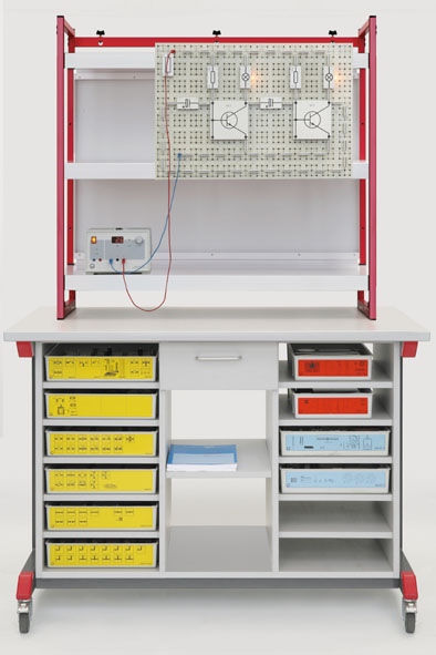 Demonstration experiment trolley, complete package for mechanics, optics and electricity (STE).