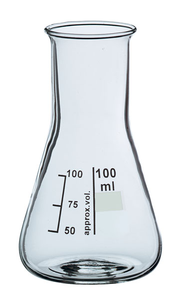 Erlenmeyer flask, Boro 3.3, 50 ml, wide neck