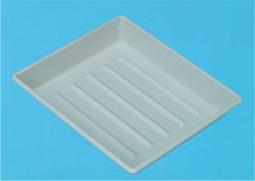 Tray, white, size 13 x 18 cm
