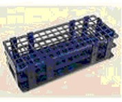 Test tube rack, plastic for 40 x 20-mm tubes, stackable