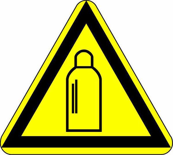 """Warning sign """"Gas tanks"""""""