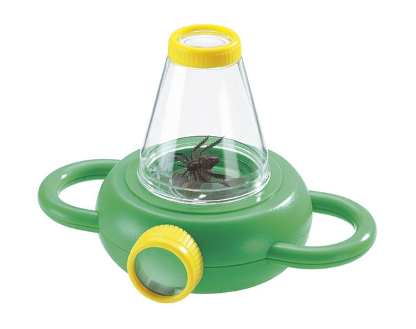 Two-way bottle magnifier with handle