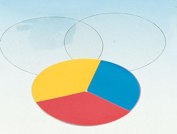 Coloured discs, set of 3