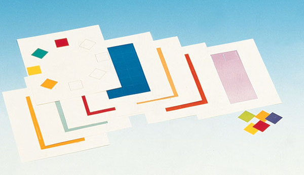 Set of coloured cards