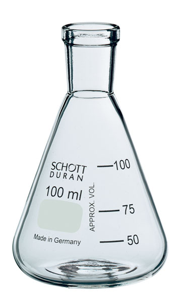 Erlenmeyer flask 250 ml, narrow neck, SB 29