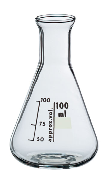Erlenmeyer flask, Boro 3.3, 100 ml, narrow neck