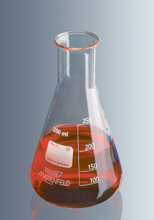 Erlenmeyer flask, Boro 3.3, 250 ml, narrow neck