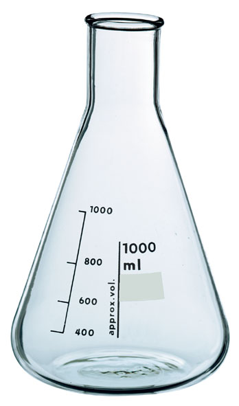 Erlenmeyer flask, Boro 3.3, 1000 ml, narrow neck