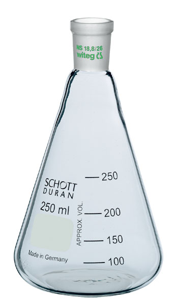 Erlenmeyer flask, Boro 3.3, 250 ml, narrow neck, ST 19/26