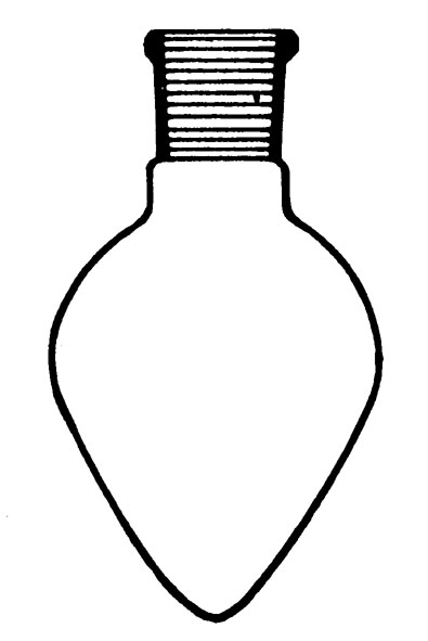 Pear-shaped flask
