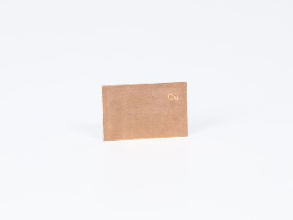 Plate electrode copper 43 x 28 mm