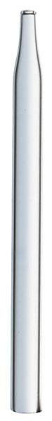 Glass nozzle straight, 8 mm Ø