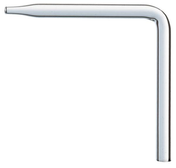 Glass nozzle 90°, 80 mm x 80 mm, 8 mm Ø
