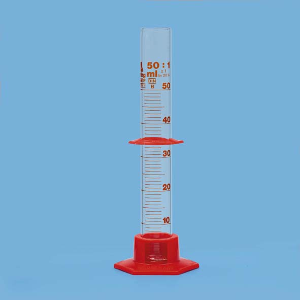 Measuring cylinder 50 ml, with plastic base
