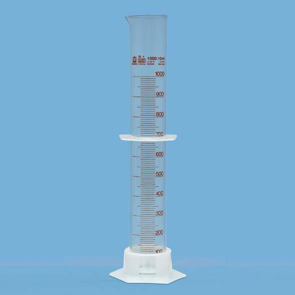 Measuring cylinder 1000 ml, with plastic base