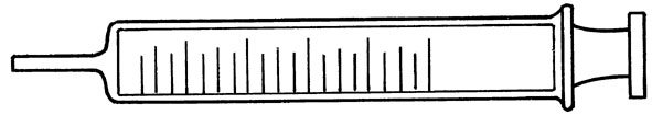 Gas syringe, 100 ml