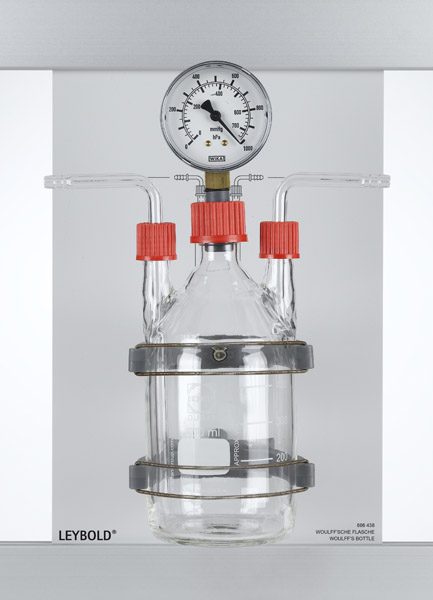 Woulff's bottle with manometer, CPS