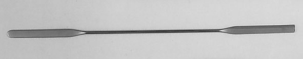 Double-ended microspatula, stainless steel, 185 mm