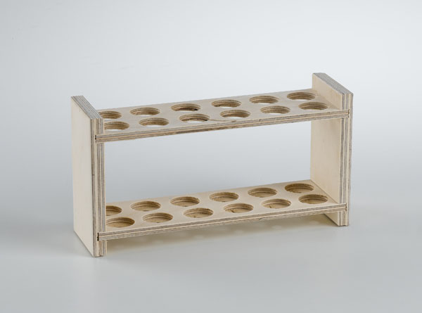 Test tube rack, for 10 tubes, 22 mm diam.